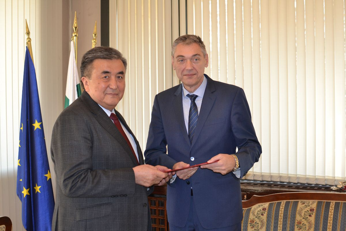 On December 13, 2019, Ambassador Extraordinary and Plenipotentiary of the Kyrgyz Republic in the Republic of Bulgaria (concurrently) Zhusupbek Sharipov presented copies of his Credentials to the Deputy Minister of Foreign Affairs of the Republic of Bulgaria Mr. P. Doykov.