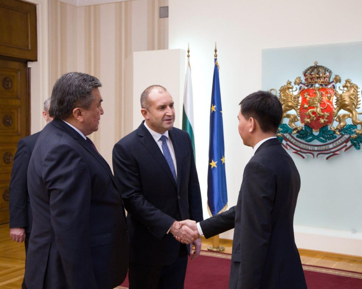 On December 16, 2019, the Ambassador Extraordinary and Plenipotentiary of the Kyrgyz Republic in the Republic of Bulgaria with a residence in Kyiv Zhusupbek Sharipov presented his credentials to the President of the Republic of Bulgaria Rumen Radev.