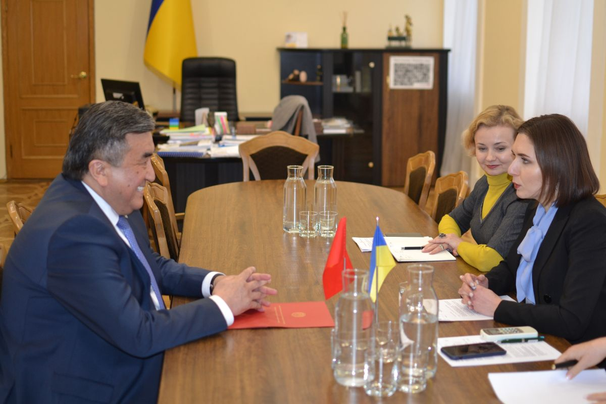 On the 13th of February, 2020, Ambassador Extraordinary and Plenipotentiary of the Kyrgyz Republic in Ukraine Zh. Sharipov met with the Minister of Education and Science of Ukraine A. Novosad.