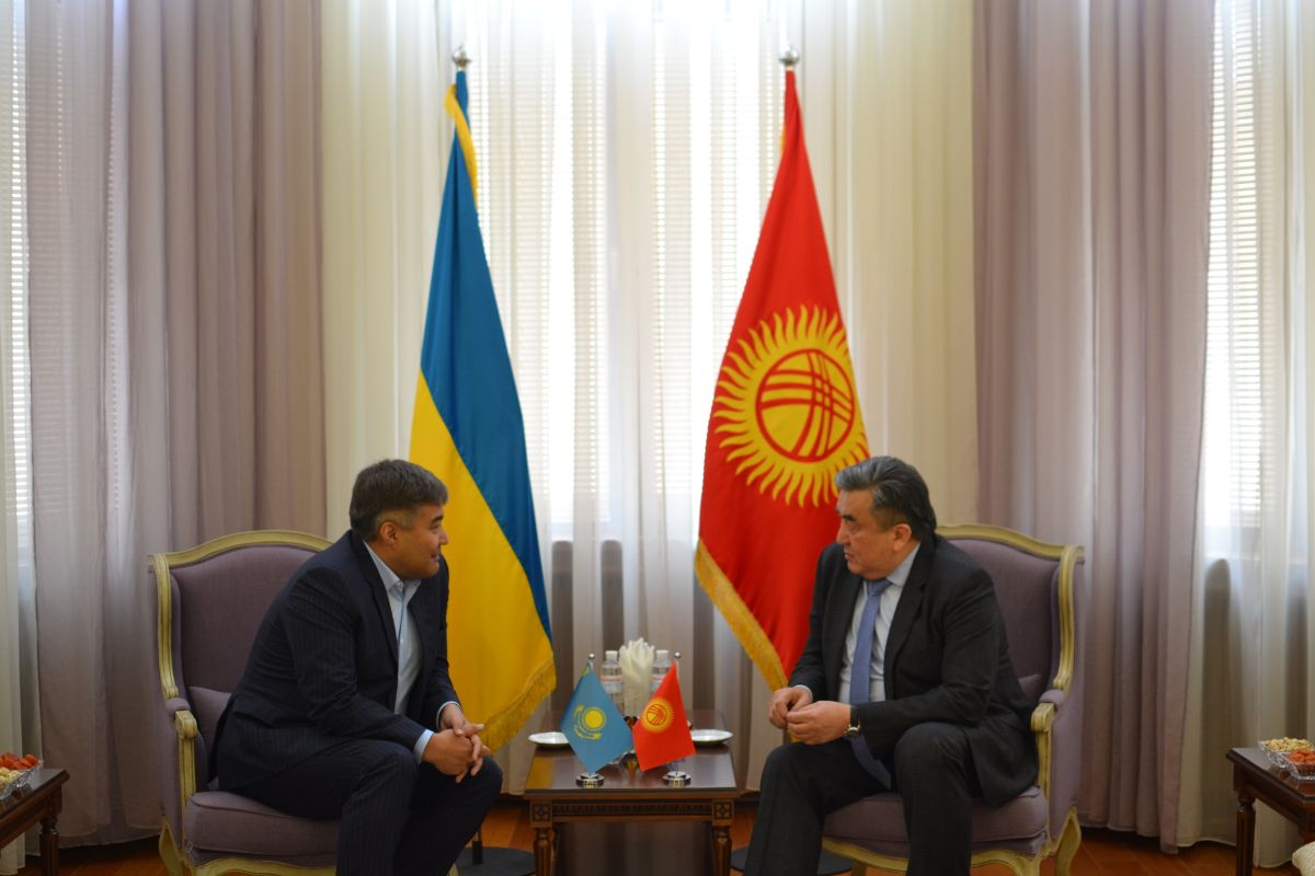 On March 17, 2020, Ambassador Extraordinary and Plenipotentiary of the Kyrgyz Republic in Ukraine Zh.Sharipov met with the newly appointed Ambassador Extraordinary and Plenipotentiary of Republic of Kazakhstan in Ukraine 