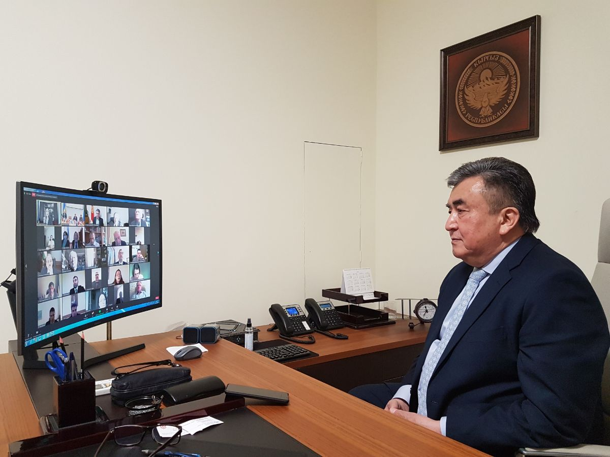 On 16th of December, 2020 Ambassador Extraordinary and Plenipotentiary of the Kyrgyz Republic in Ukraine Zh. Sharipov took part in the presentation of the XXI edition of the scientific yearbook